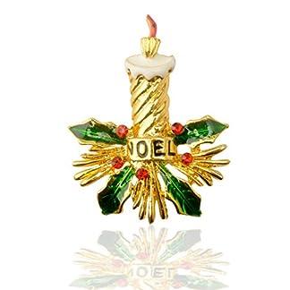 Songlin@yuan Vela de Navidad Broche de aleación Verde Ropa Europa y América 琅 琅 Gota de Aceite Pin Exclusivo 3 Pack