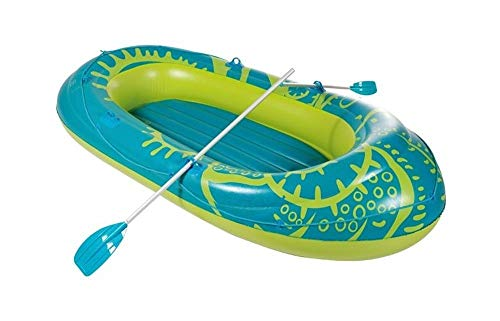 Royalbeach Schlauchboot - Badeboot-Set | ca. 286 x 152 cm | für bis zu 3 Personen | inkl. Paddel aus Alu | aufblasbar | salzwasserfest - ölbeständig - phtalatfrei