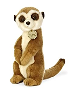 Aurora World 26228 Miyoni - Meerkat de 25,4 cm, Color marrón y Blanco
