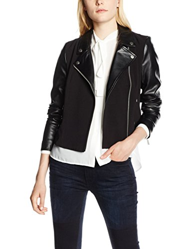 french-connection-alana-mix-ls-biker-jacket-chaqueta-para-mujer-black-es-42-uk-14