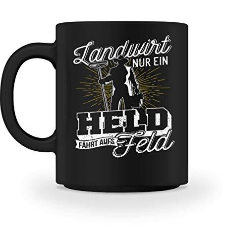 Shirtee Landwirt Bauer Landwirtschaft Farmer Held Feld Geschenk - Tasse -M-Schwarz