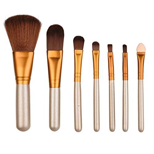 Pinceaux Maquillages,Cosmétique Brush,Beauté Maquillage Brosse,PowerFul-LOT Pinceaux 7pcs Beauté Pinceaux de Maquillage Professionnel Définis Outils Fondation Pinceau Poudre