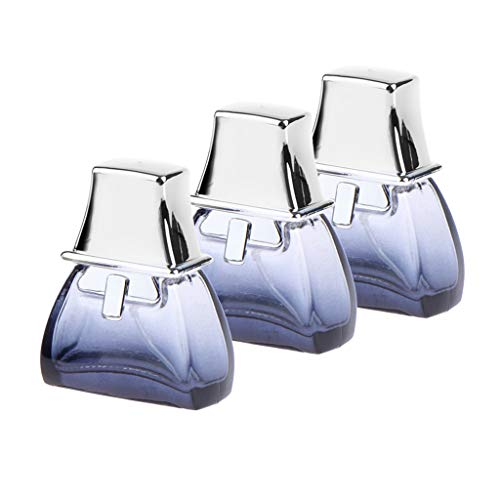 B Blesiya 3Pcs 20ml Trasparente Vetro Gradiente Blu Profumo Riutilizzabile Bottiglie Vuote Portatile Per Viaggi In Uscita E Data