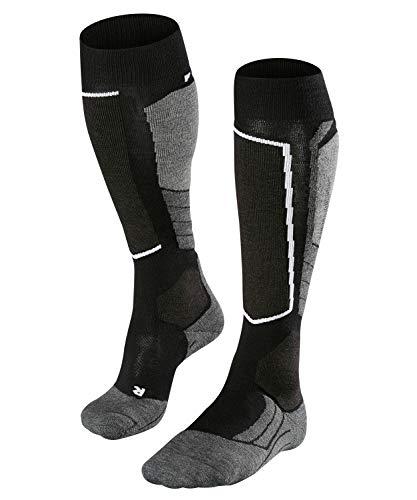 FALKE Herren Skisocken SK2 Wool, Merinowollmischung, 1 Paar, Schwarz (Black-Mix 3010), Größe: 42-43