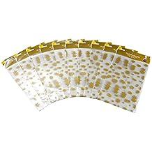Heku 22-30553 Bodenbeutel Sterne mit Bodenfalte, 100 Stück, 30 x 18 x 6 cm, PP