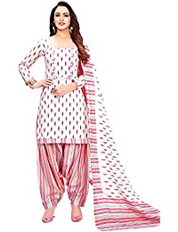 Rajnandini Women's Pure Cotton Printed Unstitched Salwar Suit Material (Free Size)