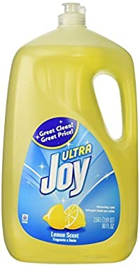 Joy Ultra Dishwashing Liquid, Lemon Scent, 90-ounce