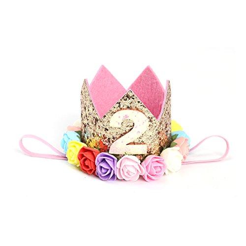 TOYMYTOY Baby Prinzessin Blume Krone Stirnband Geburtstag Partyhüte Haarschmuck