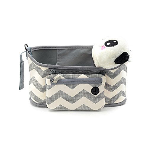 Buggy Organizzatore bagagli Passeggino Organizzatore Passeggino Accessorio ordinato del sacchetto del Caddy con Staccabile Zipper Pouch per Toddler Baby By Webeauty (Banda)