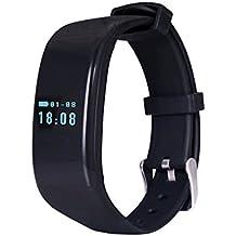 Bubudong D21 Monitor de ritmo cardiaco Pulsera inteligente Reloj de baño Reloj Contador de paso Llamada Mensaje Recordatorio Smartband