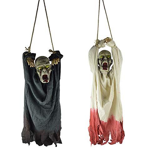 Erwachsene Ghost Robe Kostüm - NBCDY 2 Stück Halloween Ghost hängende