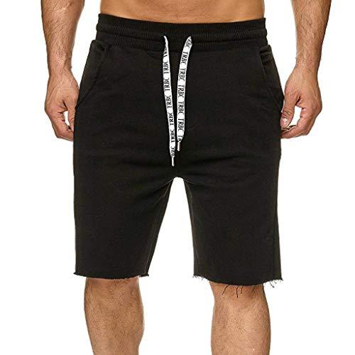 Herren Cargo Shorts Baumwolle Multi-Pocket Overalls Shorts Mode Hose Sport Lose Tasche Jogginghose Kordelzug Kurz Hosen Zolimx
