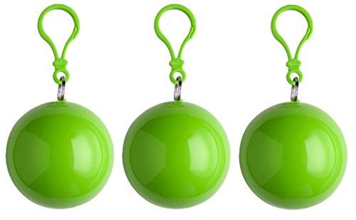 sinsey 3er Set Poncho Notfall-Poncho Regenponcho Regencape (apfelgrün)