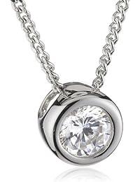 Esprit Damen Halskette 925 Sterling Silber rhodiniert Zirkonia ESNL92823A400