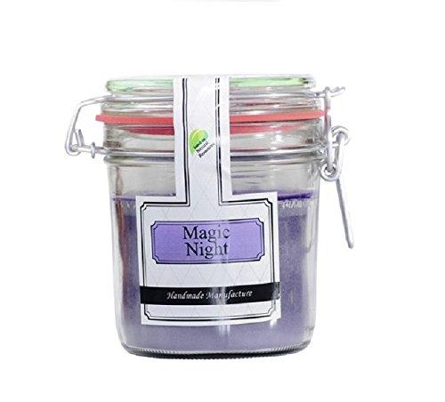 Parfüme Boutique 1106372 MN Vintage Vintage Verre – L – Magic Night Bougie parfumée dans Verre, Violet, 13 x 13 x 12 cm