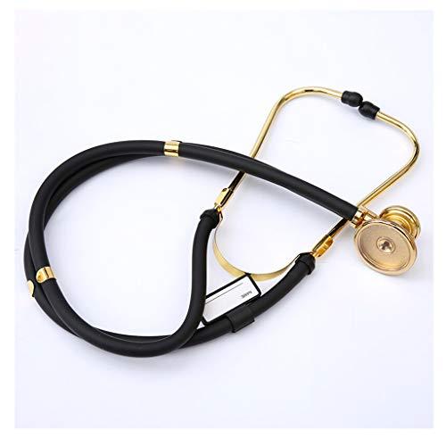 Estetoscopio de cardiología clásico, Estetoscopio médico de Doble función de Doble Tubo, Audible...