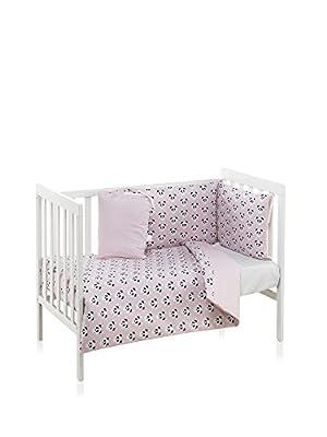 Funny Baby 627933 - Funda nórdica 110x150 cm y protector 60x120 cm, color pandy rosa