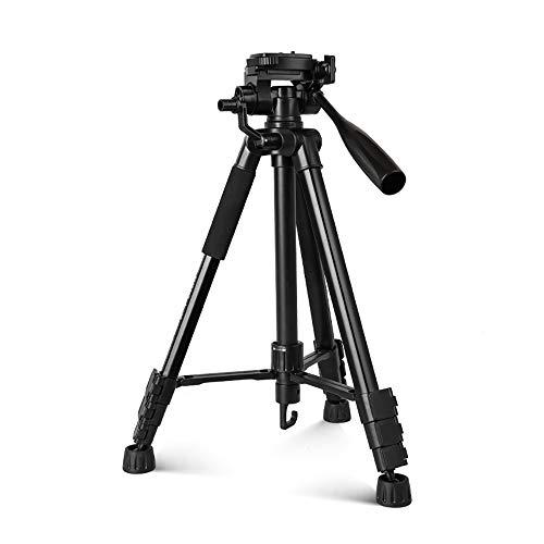 43 - Cámara de trípode Profesional Trípode portátil Ultraligero Trípode de cámara réflex Digital de Aluminio Ligero Compacto con PTZ 3D y Bolsa de trípode para cámara Digital SLR (VT-860)