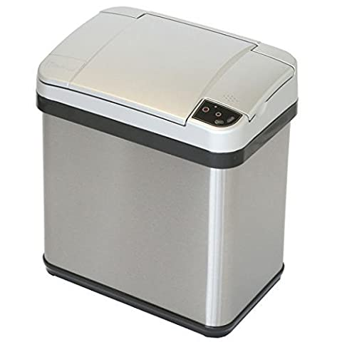 Home Garbage Can of iTouchless Features Multi-Function Sensor, ABS Plastic