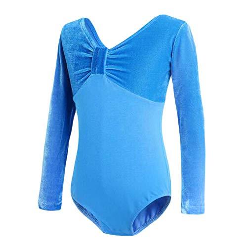 Dance Kostüm Weihnachten Tap - Panda Legends Langarm Gymnastik Trikots Kinder Blue Dance Dress Ballett Trikots für Mädchen