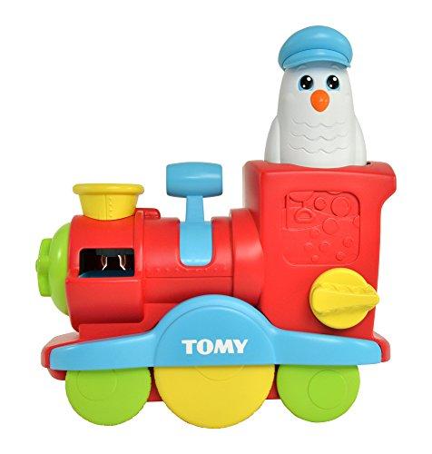 Tomy Wasserspielzeug für Kinder Seifenblasen Lok mehrfarbig - hochwertiges Kinderspielzeug für die Badewanne - fördert motorische Fähigkeiten - ab 1 Jahr