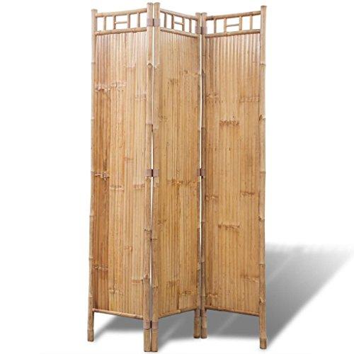 Lingjiushopping Trennblatt Raum Trenn-Innenraum mit 3Platten-Bambus Material: Bambus Größe: 120x 170cm (L x A)