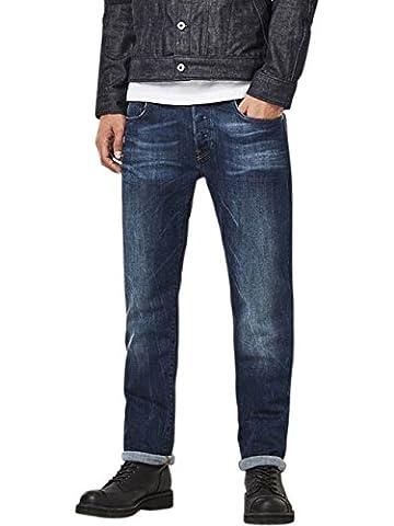 G-Star Herren Jeans 3301 Straight Fit - Blau - Dark Aged, Größe:W 40 L 32;Farbe:Dark Aged (089)