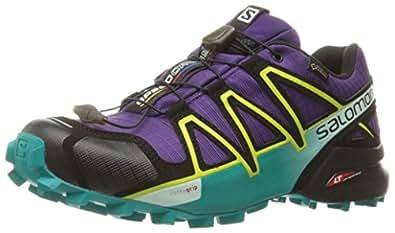 Salomon Speedcross 4 GTX Damen Trailrunning-Schuhe, Rot (Barbados Cherry/Poppy Red/Deep Lagoon), 39 1/3 EU (6 UK)