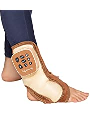 Lifelong Rechargeable Ankle MassagerFor Pain Relief (With Vibration, Air Pressure and Heat) (Brown)