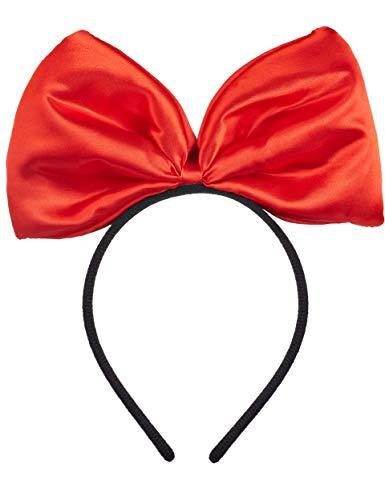 schwarz mit großer roter Schleife für Kinder & Erwachsene ()