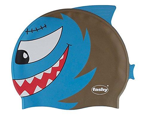 Fashy - shark bambini-nuoto, cuffia da piscina, nuoto e campana