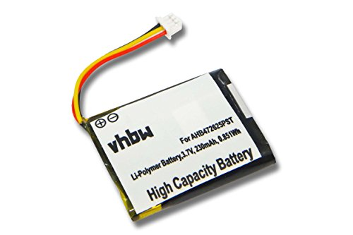 vhbw Li-Polymer Akku 230mAh (3.7V) für Kopfhörer, Headset Logitech H800 wie 533-000067, AHB472625PST, L/N: 1109, L/N: 1110.