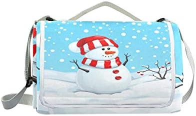 Jeansame Winter Christmas New Year Cute Cute Cute Snowman Picnic Mat Coperta da Picnic, da Campeggio per Outdoor Viaggio Yoga Escursionismo Impermeabile Portatile Pieghevole 150 x 145 cm | Italia  | Di Rango Primo Tra Prodotti Simili  b9f262