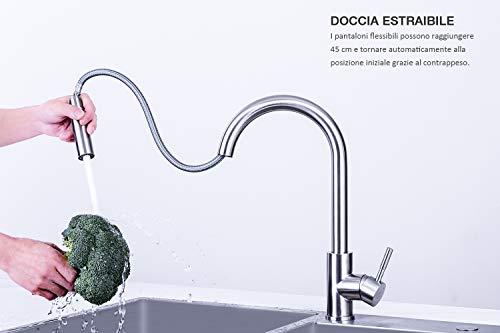 Rubinetto Cucina Doccia Estraibile.360 Estraibile Rubinetti Cucina Con Doccetta Mehoom 2