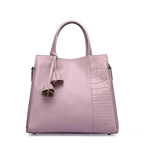 LS Erste Schicht Leder Leder Schulter Handtasche,Pink