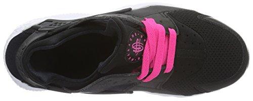 Nike Huarache Run (Gs), Scarpe da Corsa Donna Nero (Black / White-Pink Blast)