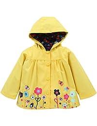 BBsmile Ropa de bebé niñas Visten Chaqueta Abrigo Impermeable para niños Prendas de Vestir Exteriores con Capucha Ropa de niños Chaqueta Ropa Bebe niña niño