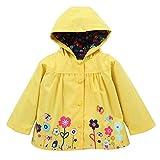 Zarupeng Baby Mädchen Kapuzen-Regenjacke, Blumen Kapuzenpullover Kinder Regenmantel Hooded Mantel Oberbekleidung Strickjacke