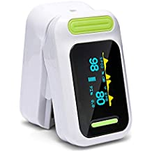 SALOVES Oximetro Dedo Oxímetro de Pulso Pulsioxímetro de Dedo con Pantalla OLED Digital Monitor de Frecuencia