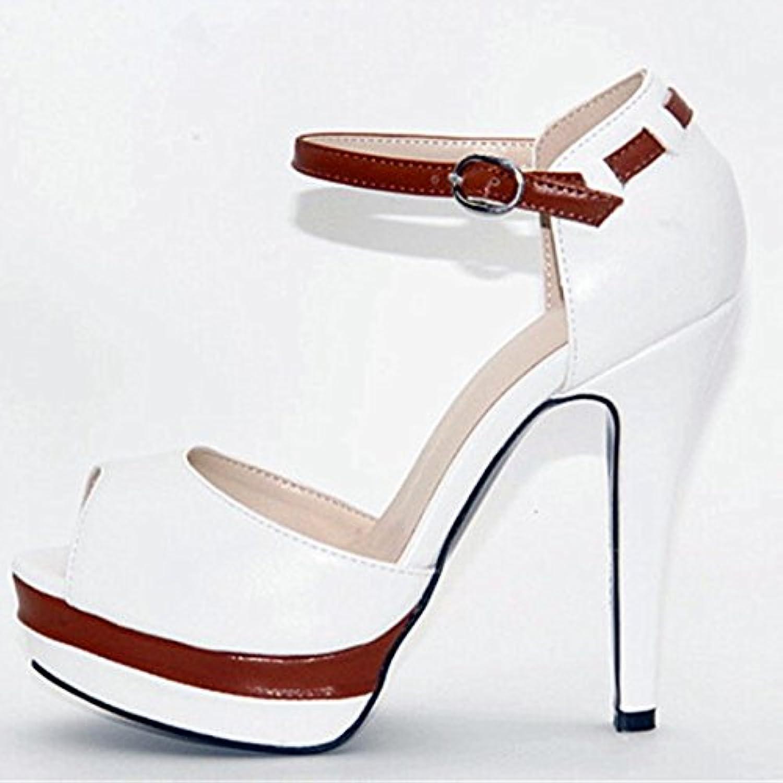 VIVIOO Prom Sandals scarpe,Beautiful Fashion,Leather Fabric,12,5 Cm High Heels,donna scarpe In Summer. Peep Toe... | La prima serie di specifiche complete per i clienti  | Uomini/Donna Scarpa