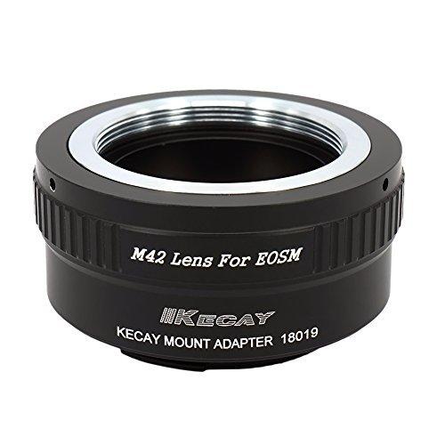KECAY® Objektiv Adapter M42 42mm Screw Mount Objektiv für Canon EOS M (EF-M) Kamera, EOS M, M2, M3, M10 M42 Screw Mount