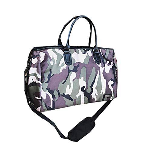 wasserdichte Reisetasche Yoga Fitness Bag Männer Nylon Camouflage Umhängetasche Training Fitness Sporttasche Schulter Messenger Bag (Blau) (Color : Blau, Size : -) - Camouflage Nylon-schulter-bag