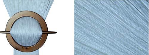 FKL Fadenvorhang Fadengardine Türvorhang 100x200 / 150x250 / 300x250 cm (20. arktisch Weiß, 150 x 250 cm)