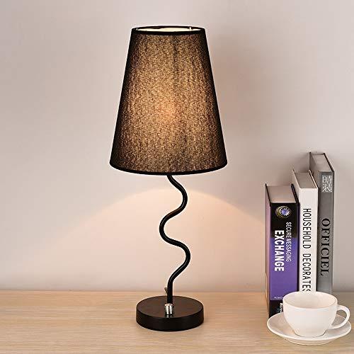 Modenny American Creative Metall nachttischlampe Tisch Laterne runde leinen lampenschirm Schreibtisch licht led Desktop nachtlicht für Wohnzimmer kinderzimmer nachtbeleuchtung (e27 * 1) (Runde Schreibtisch Led-licht)