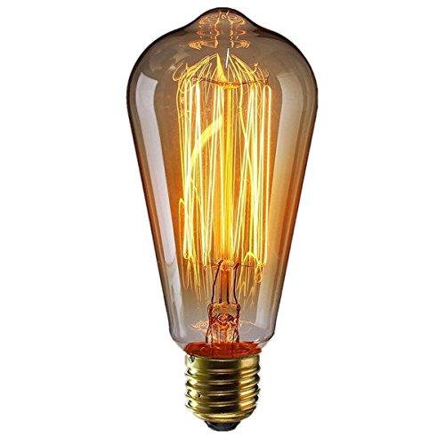 KINGSO E27 Edison Glühlampe ST64 60W 220V Vintage Lampe Wolfram dekorative Glühlampe Filament klassische antike Dimmbare Lampe Warmweiß