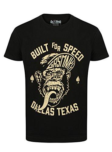 Gas Monkey Garage T-Shirt Capped Monkey Black