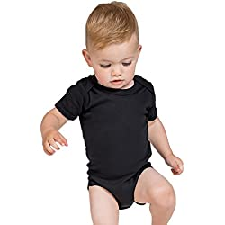 Body para bebé de Algodón, Unisex, Pack de 2, BZ10 (6-12M, Black)