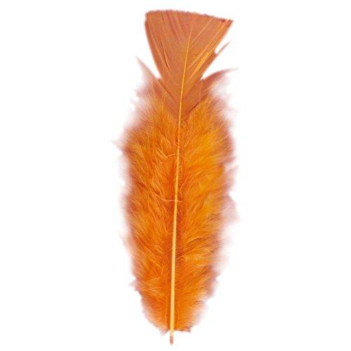 50 Piume arancioni circa 10 cm samba piume ornamentali Carnevale di Rio accessori copricapo - 10 cm