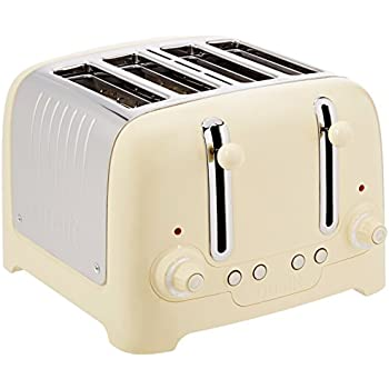 Dualit 4 Slot Lite Toaster in Cream Gloss Finish Amazon