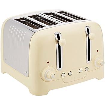 Dualit 4 Slot Lite Toaster in Cream Gloss Finish Amazon